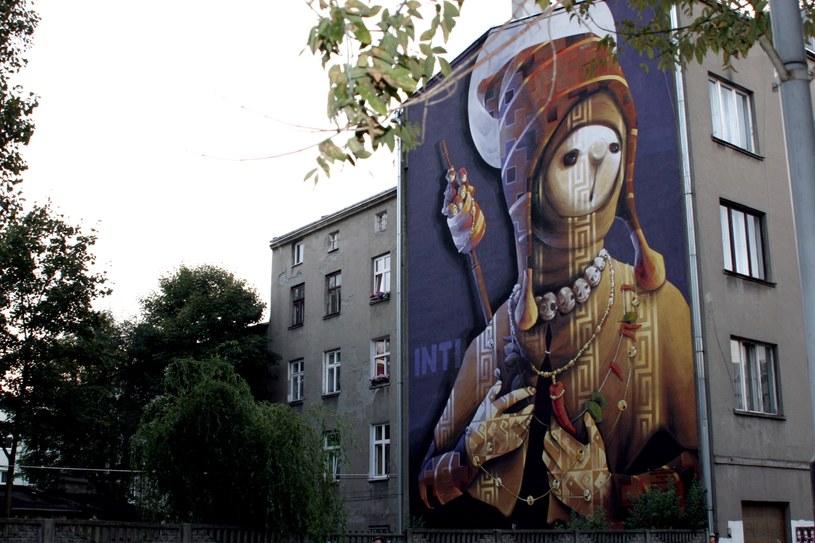Mural przy ul. 28. Pułku Strzelców Kaniowskich (autor: INTI) /Ewelina Karpińska-Morek /INTERIA.PL