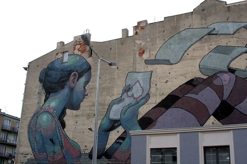 Mural przy ul. Pomorskiej 67 (autor: ARYZ) /Ewelina Karpińska-Morek /INTERIA.PL