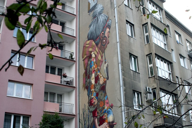 Mural przy ul. Uniwersyteckiej 12 (autor: SAINER) /Ewelina Karpińska-Morek /INTERIA.PL