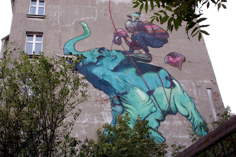 Mural przy ul. Uniwersyteckiej 3 (autor: ETAM CREW) /Ewelina Karpińska-Morek /INTERIA.PL