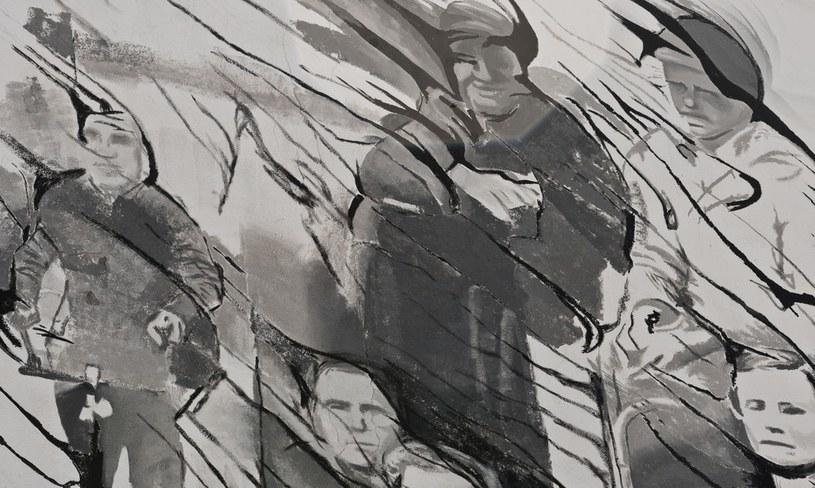 Mural przypominający o zbrodni wołyńskiej /Justyna Rojek /East News