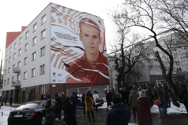 Mural upamiętniający Krzysztofa Kamila Baczyńskiego / Albert Zawada /PAP