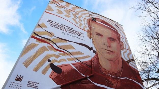 Mural upamiętniający Krzysztofa Kamila Baczyńskiego /Piotr Szydłowski /RMF FM