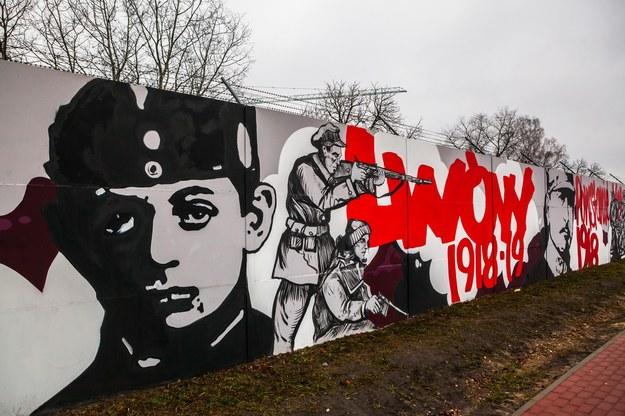 Mural w Legionowie z wizerunkiem Antosia Petrykiewicza /Adam Burakowski /East News