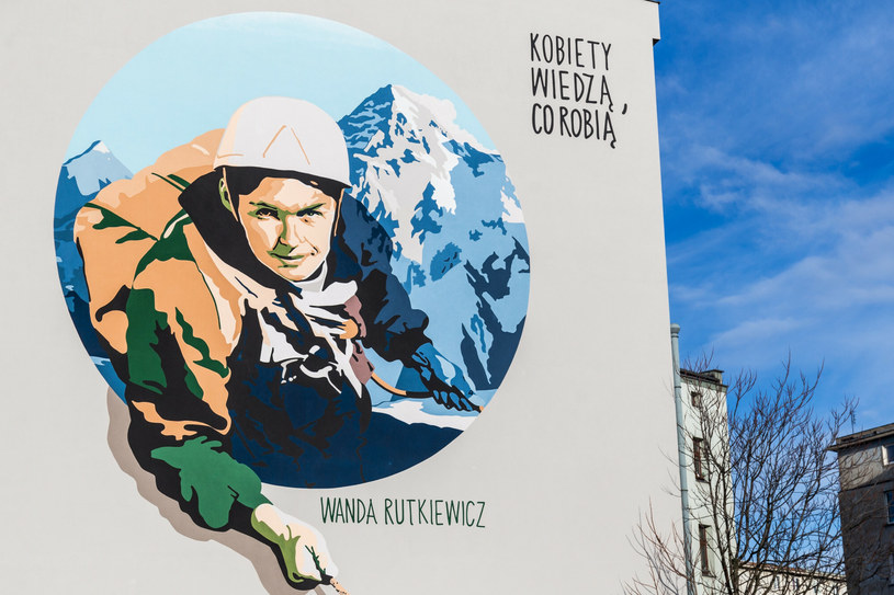 Mural we Wrocławiu upamiętniający postać Wandy Rutkiewicz /Krzysztof Kaniewski/REPORTER /East News