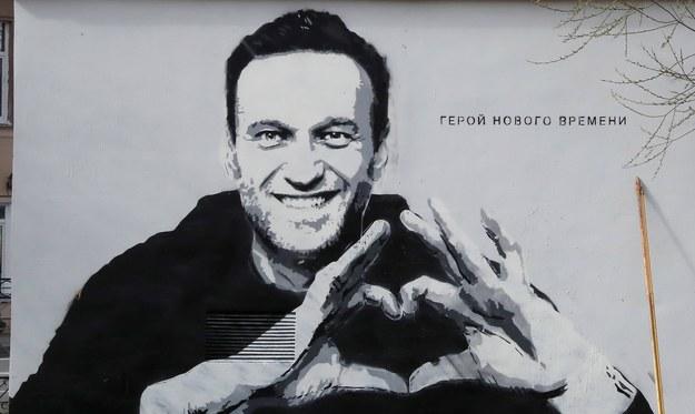 Mural z Aleksiejem Nawalnym /ANATOLY MALTSEV  /PAP/EPA