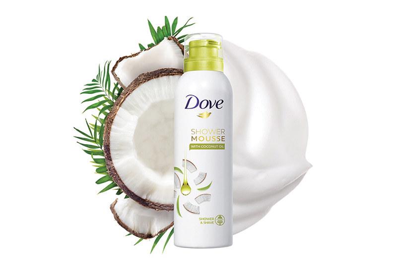 Mus do mycia ciała Dove Shower Mousse z olejkiem kokosowym /materiały prasowe