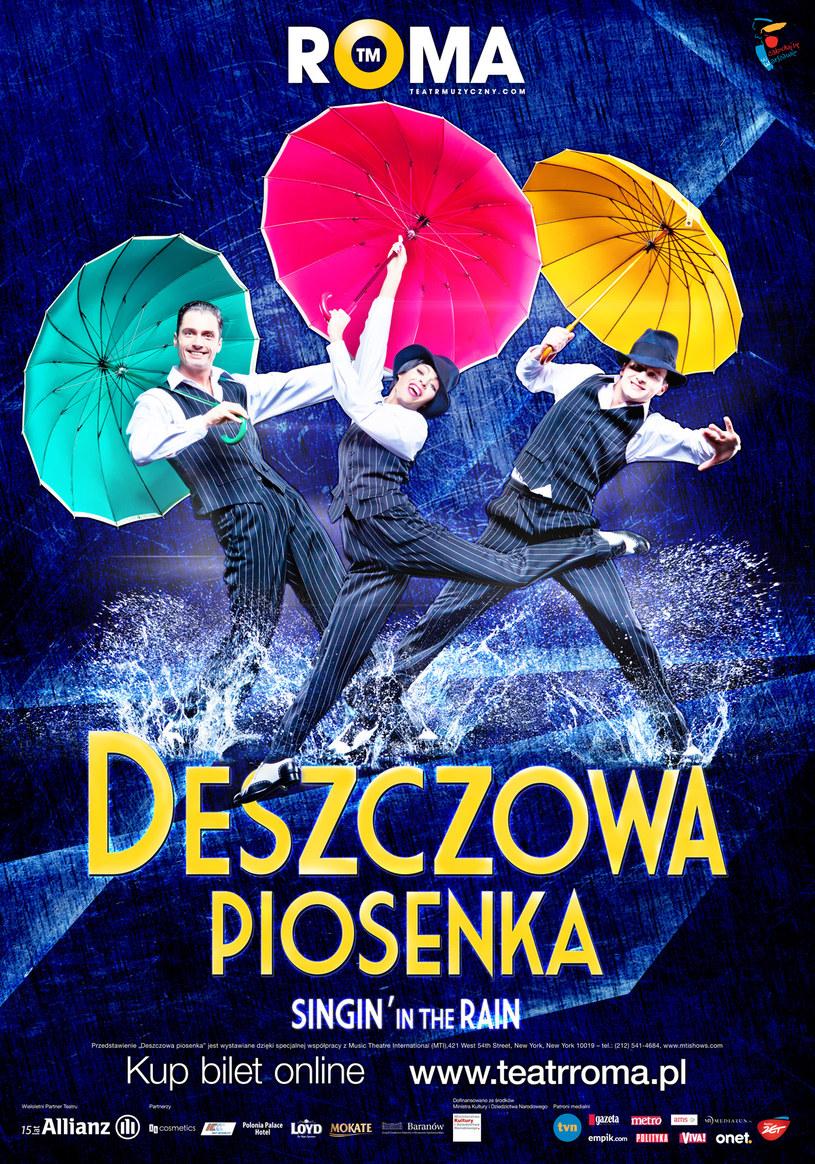 Musical DESZCZOWA PIOSENKA grany będzie do końca tego sezonu siedem razy w tygodniu (dwa razy w soboty, w poniedziałki teatr jest nieczynny) /materiały prasowe