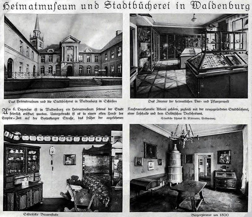 Muzeum w Wałbrzychu ulokowane w pałacu rodu Albertich /Biblioteka Cyfrowa Uniwersytetu Wrocławskiego /Odkrywca