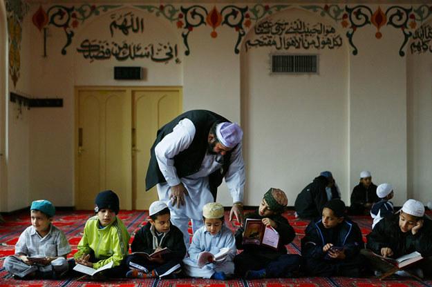 Muzułmańska szkoła w Luton na północ od Londynu fot. Adrian Dennis /AFP