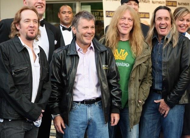 """Muzycy Iron Maiden na brytyjskiej premierze filmu """"Flight 666"""" - fot. Chris Jackson /Getty Images/Flash Press Media"""
