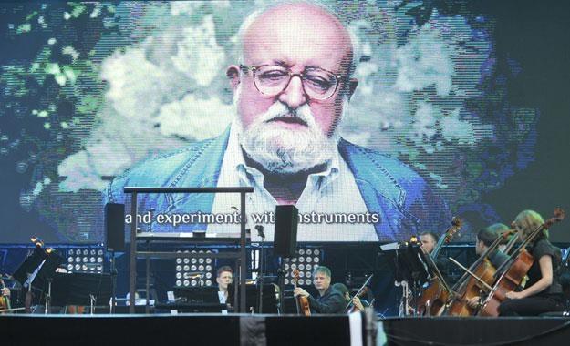 Muzyka Krzysztofa Pendereckiego była obecna równiez podczas Heineken Open'er Festival 2012 /AKPA