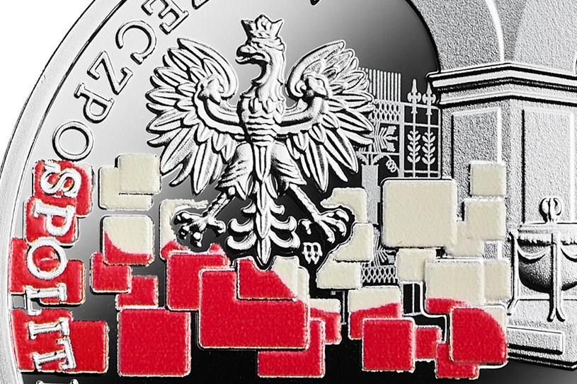 My Polacy dumni i wolni 1918-2018, detal awersu /NBP /