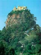 Myanmar, góra Popa, legendarny dom bogów i duchów /Encyklopedia Internautica