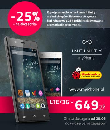myPhone Infinity 3G/LTE w Biedronce /materiały prasowe