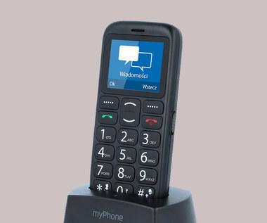 myPhone Simply 2 z bazą ładującą w Biedronce