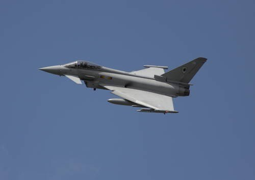 Myśliwiec RAF typu Typhoon /Value Stock Images /East News