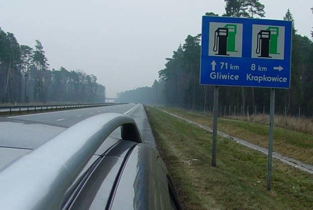 Na autostradzie A4 także nie ma stacji paliwowych / kliknij /INTERIA.PL