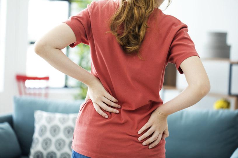 Na bóle w dolnej części pleców narzeka nawet 2/3 Polaków /123RF/PICSEL