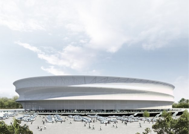 Na budowę stadionu miasto chce zaciągnąć blisko 500 mln zł kredytu /Informacja prasowa