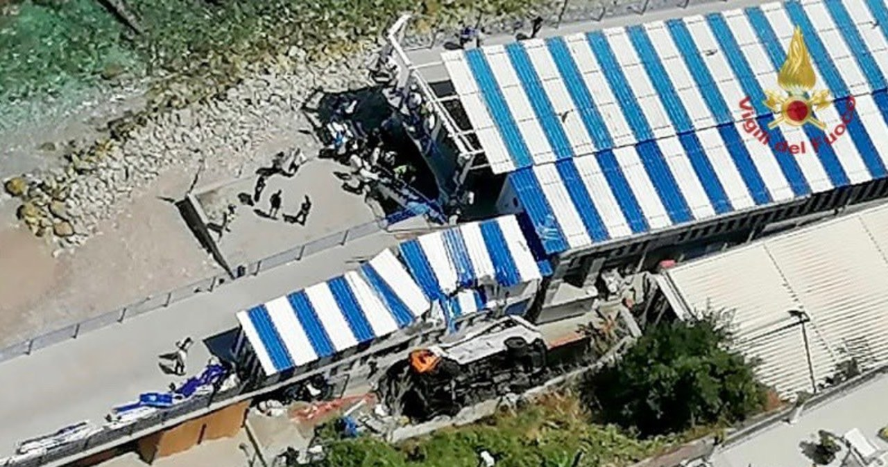 Na Capri spadł autobus. Są ofiary
