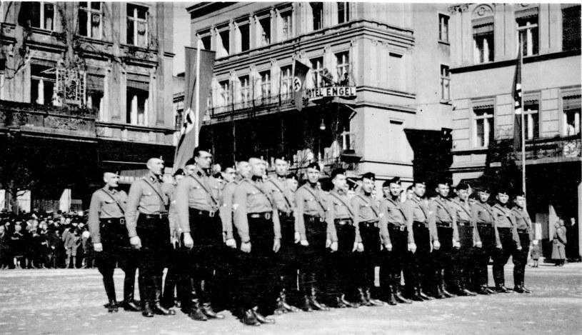 Na chojnickim rynku. Fot. Tadeusz Galec, Archiwum historiachojnic. com /