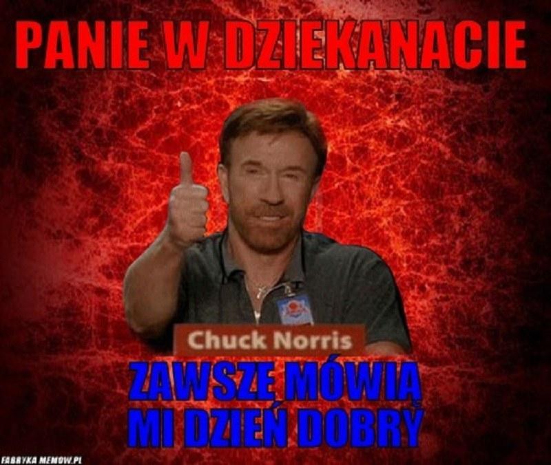 Na coś takiego może liczyć tylko Chuck /fabrykamemów.pl /Internet
