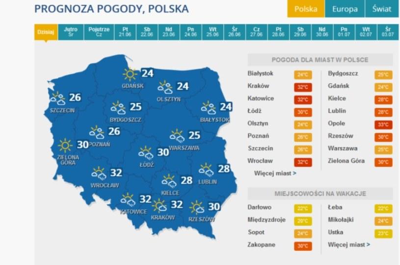 Na czwartek prognozowane są burze /INTERIA.PL