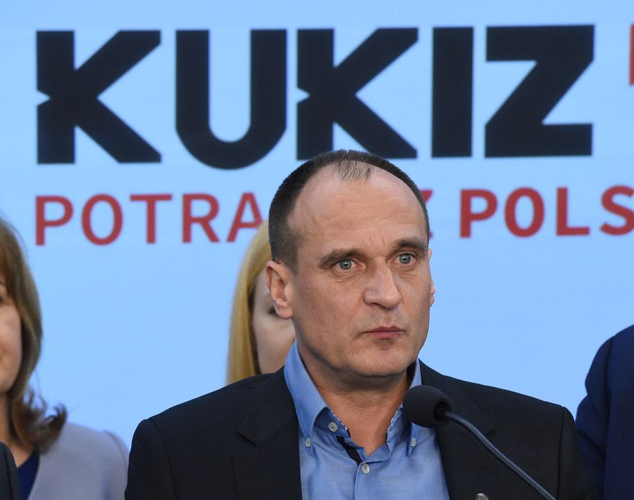 Na czwartym miejscu w sondażu znalazł się Ruch Kukiz'15 /PAP/Radek Pietruszka    /PAP