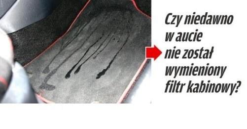 Na dywaniku pojawiła się woda /Motor