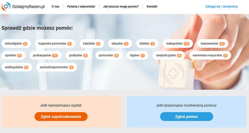 Na DzialajmyRazem.pl można zgłosić swoje potrzeby /materiały prasowe
