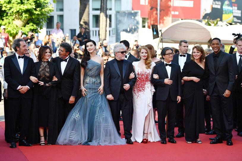 Na festiwalu w Cannes w 2017 roku Fan Bingbing znalazła się w gronie jurorów. Na zdjęciu członkowie jury: Paolo Sorrentino, Agnes Jaoui, Gabriel Yared, Fan Bingbing, Pedro Almodovar, Jessica Chastain, Park Chan-wook, Maren Ade i Will Smith /Getty Images