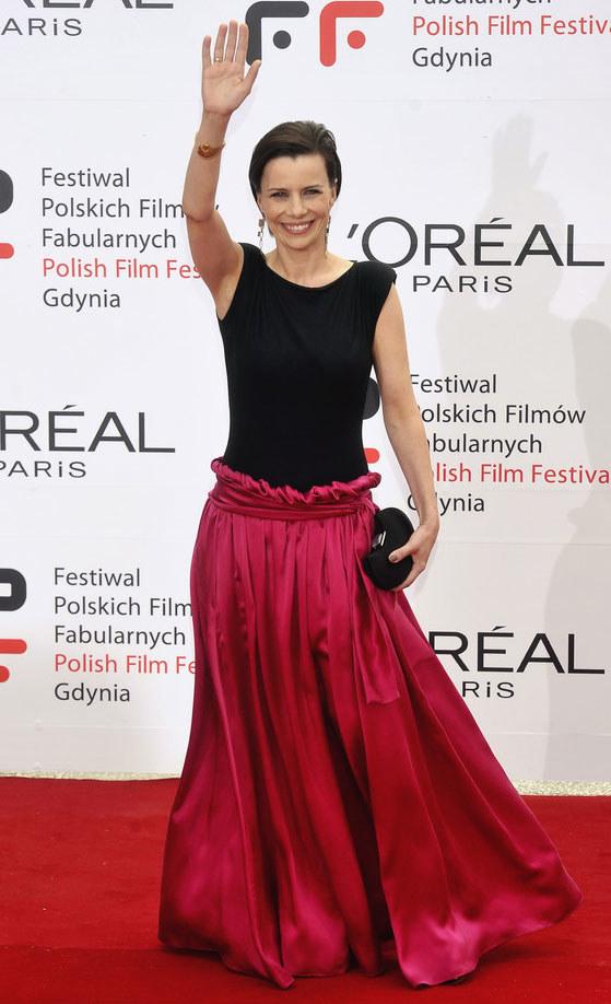 Na festiwalu w Gdyni aktorka prezentowała się pięknie  /Jacek Kurnikowski /AKPA