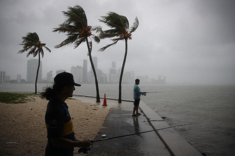 Na Florydzie już wieje... /AFP