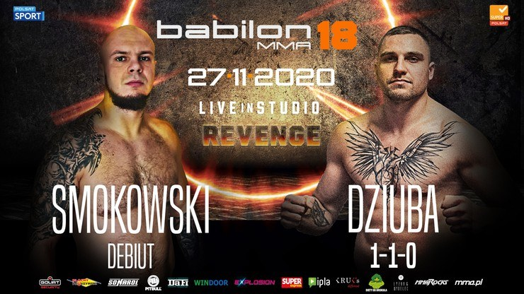 Na gali Babilon MMA 18 zmierzą się m.in. Paweł Dziuba oraz Maciej Smokowski /materiały prasowe