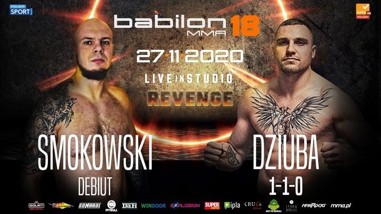 Na gali Babilon MMA 18 zmierzą się Paweł Dziuba oraz Maciej Smokowski /materiały prasowe