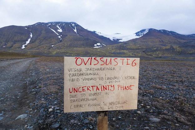 Na Islandii nadal obowiązuje pomarańczowy alert / VILHELM GUNNARSSON / FRETABLADID    /PAP/EPA
