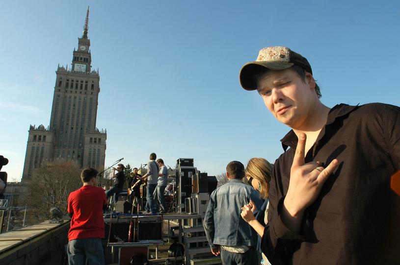 Na koncercie zespołu T-Love na dachu Dworca Śródmieście /Darek Lewandowski /East News