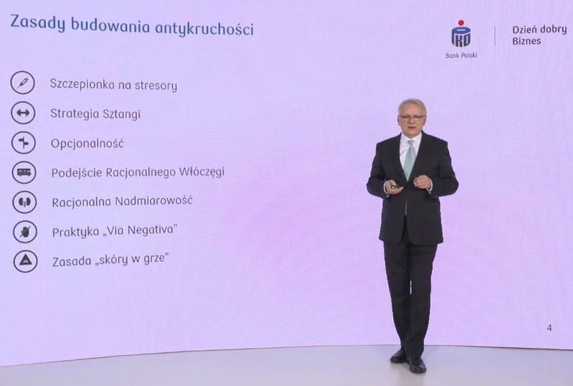"""Na kryzysie można zyskać – przekonywał podczas szkolenia dla przedsiębiorców """"Dzień dobry Biznes"""" Krzysztof Pilarczyk /materiały prasowe"""