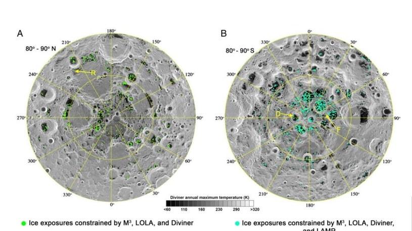 Na Księżycu występuje lód wodny /NASA