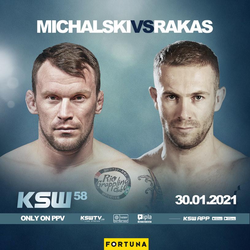 Na KSW 58 Michał Michalski zmierzy się z Aleksandarem Rakasem /KSW /Informacja prasowa