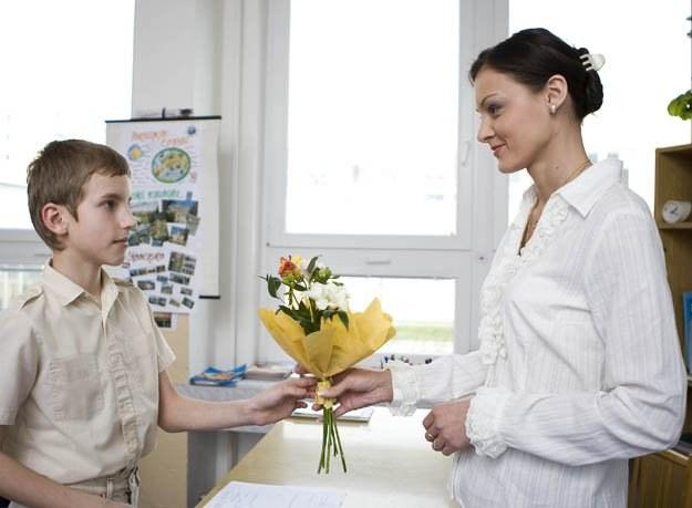 Na kwiatka od uczniów zawsze można liczyć...