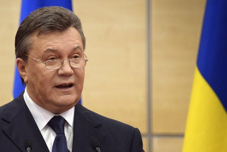 Na liście znalazł się były prezydent Ukrainy Wiktor Janukowycz /AFP