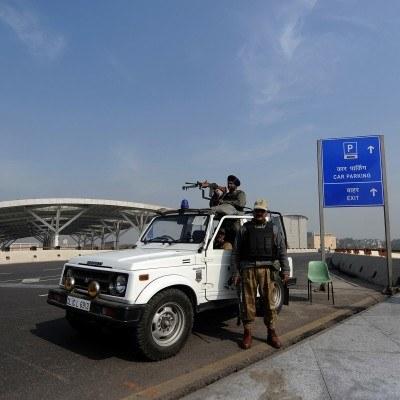 Na lotnisku w New Delhi /AFP