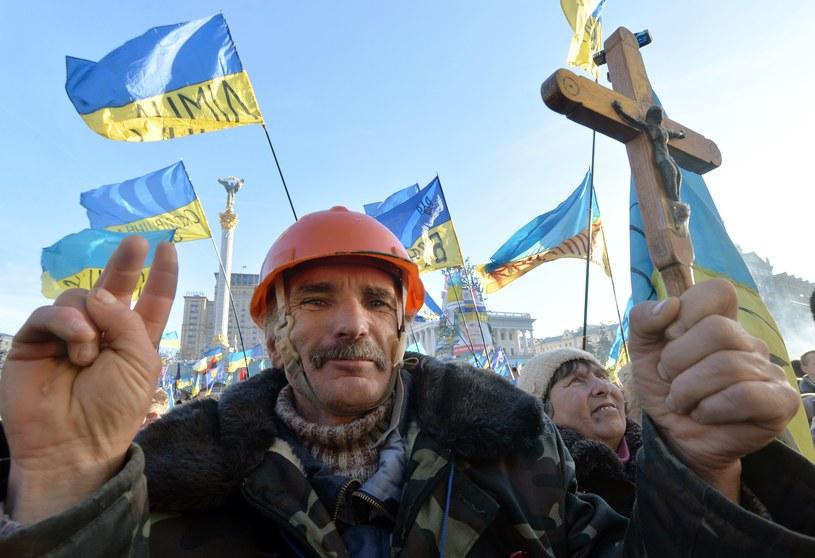 Na Majdanie zebrało się dzisiaj kilkanaście tysięcy protestujących /AFP