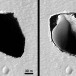 Na Marsie jest krater podobny do Polski lub serca