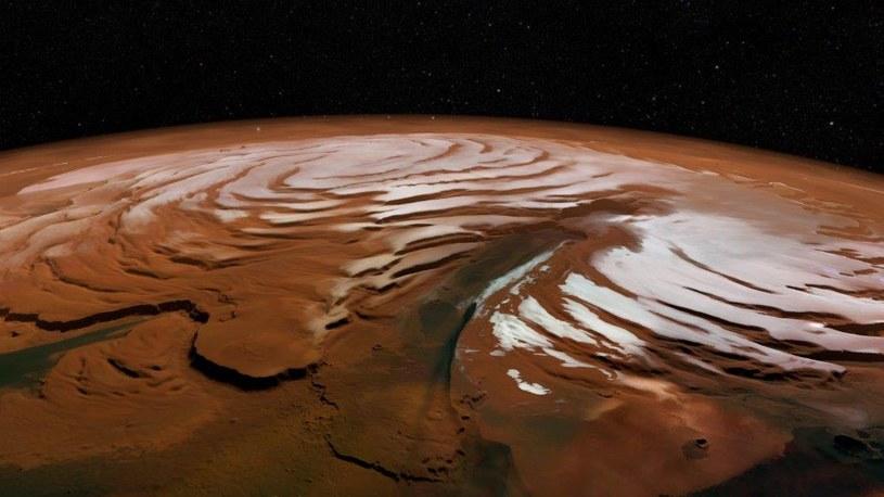 Na Marsie kiedyś była woda - ale prawdopodobnie pod postacią lodu /materiały prasowe