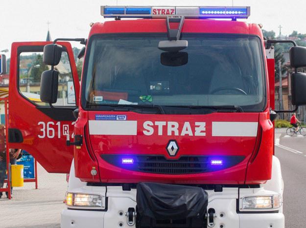 Na miejsce wypadku przyjechali także strażacy/ Zdjęcie ilustracyjne /Kamil Krukiewicz/REPORTER /East News