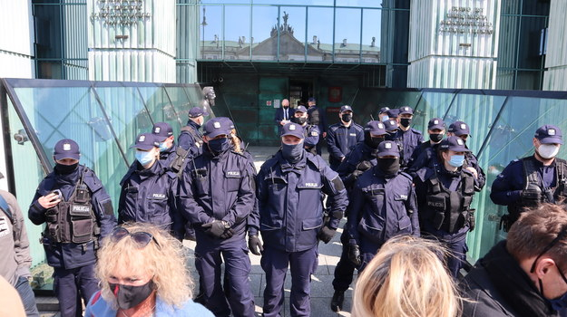 Na miejscu jest wielu policjantów /Piotr Szydłowski /RMF FM