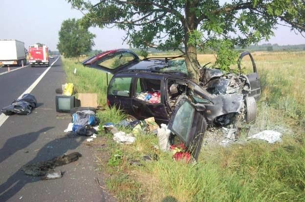 Na miejscu śmierć poniósł 34-letni kierowca /